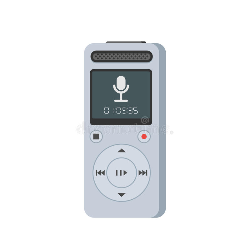 Dictaphone vector icon royalty free illustration