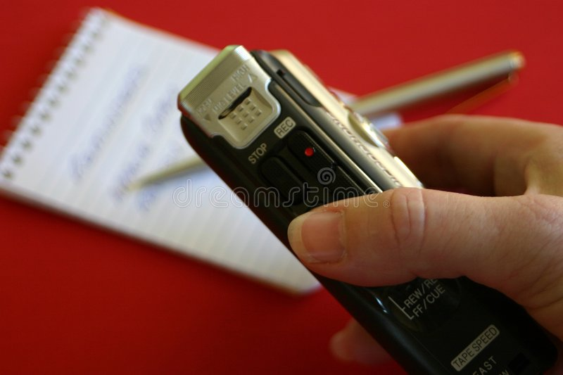 Dictation Notes stock image