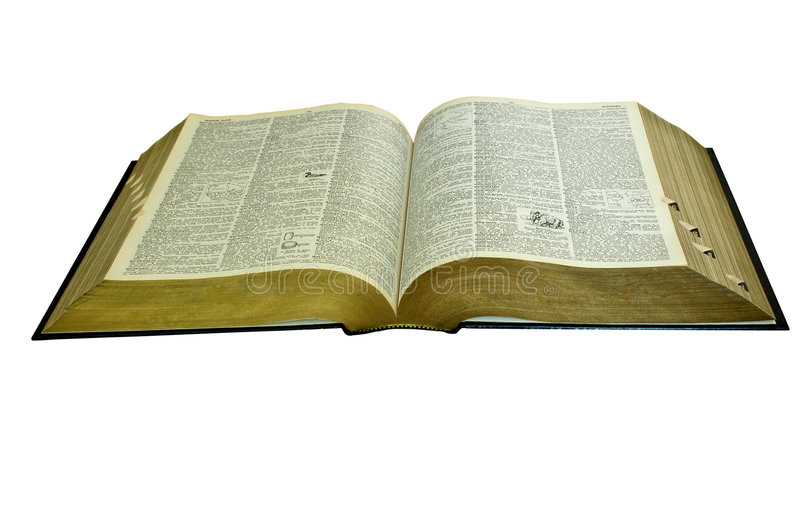 Dictionary. A big opened English dictionary stock photography