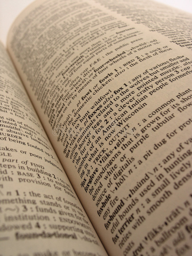 Dictionary. Book - Dictionary stock image