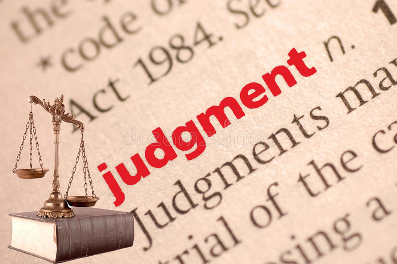 Dictionary definition of judgment royalty free stock images