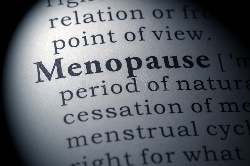 Dictionary definition of menopause royalty free stock images