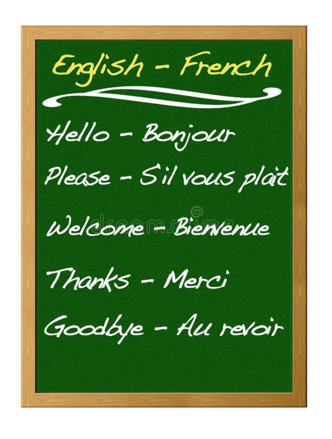Dictionary english - french. royalty free illustration