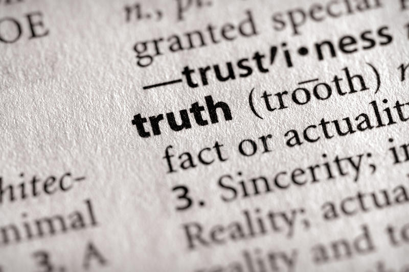Dictionary Series - Philosophy: truth royalty free stock images