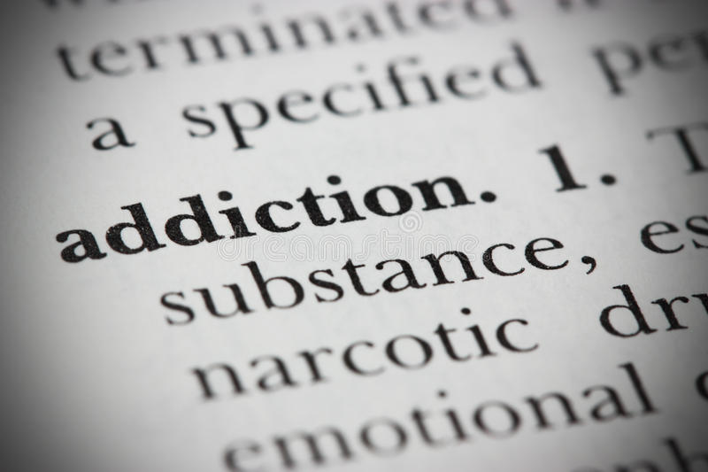 Dictionary Word Addiction stock images