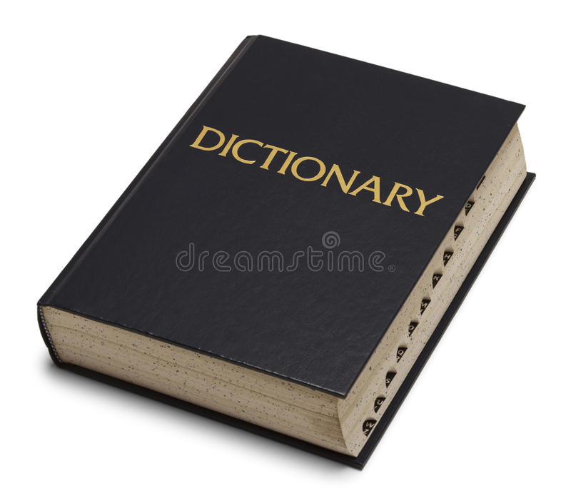Dictionnaire photo stock