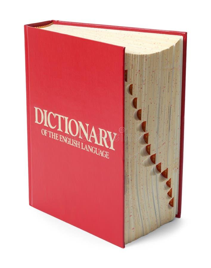 Dictionnaire sur l'extrémité images stock