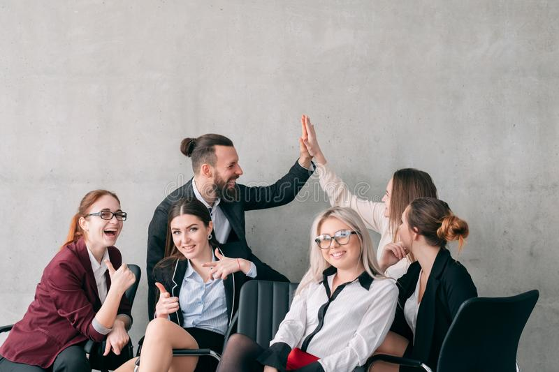 We did it business team result corporate royalty free stock photography