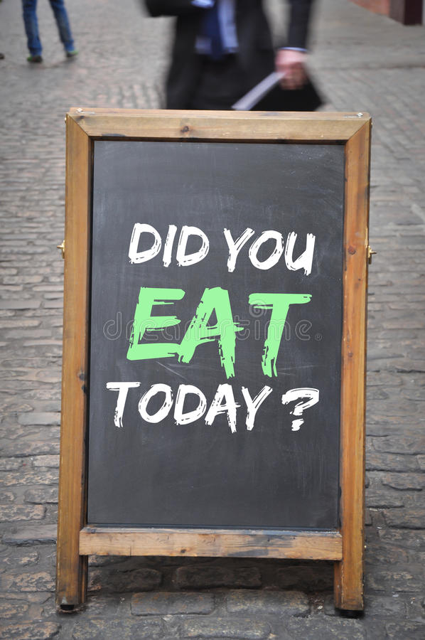 Did you eat today question royalty free stock photos