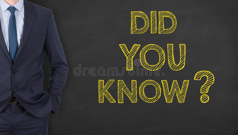 Did You Know on Chalkboard. Working Conceptual Business Concept royalty free stock photography