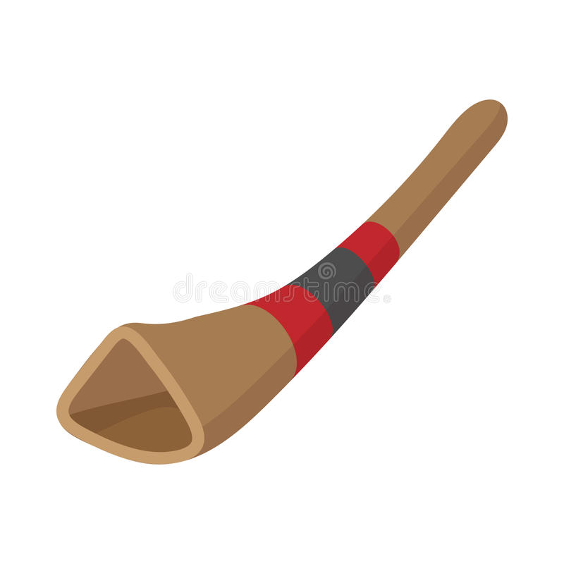 Didgeridoo, australijski instrument muzyczny ilustracji