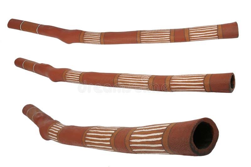 Didgeridoo, muzikaal instrument van Australische aboriginals stock afbeelding
