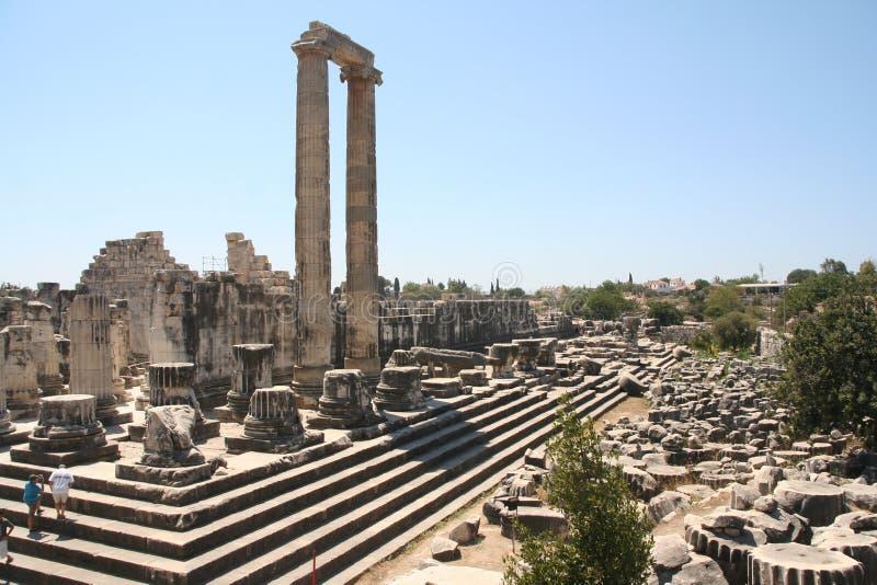 Didim Apollo temple. The ruins of greek Apollo temple in Didim, Turkey royalty free stock image