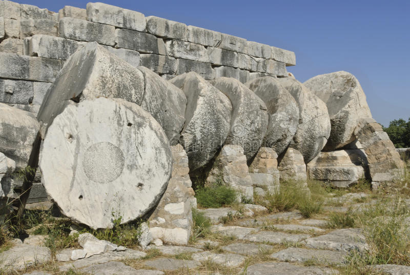 Didyma. Temple of Apollo in Didyma antique city royalty free stock photos