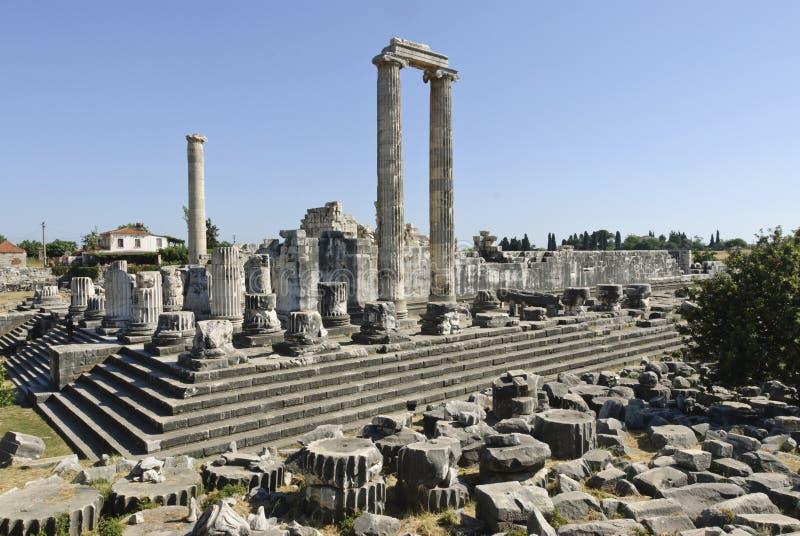 Didyma. Temple of Apollo in Didyma antique city stock photo