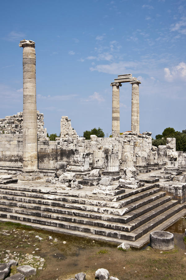 Didyma. Temple of Apollo in Didyma antique city stock photography
