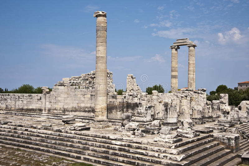 Didyma. Temple of Apollo in Didyma antique city royalty free stock photo