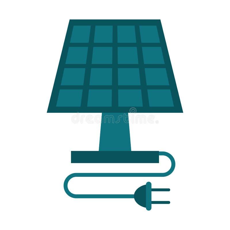 Die ökologische Sonnenkollektorenergie säubert stock abbildung