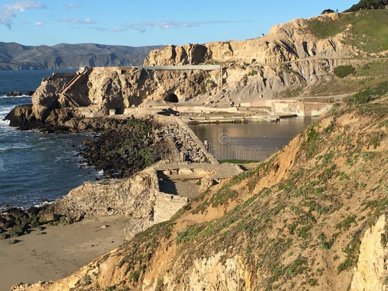 Die Überreste von Sutro-Bädern, San Francisco, 1 stockbild
