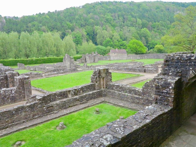 Die Überreste von Tintern-Abtei lizenzfreie stockfotos