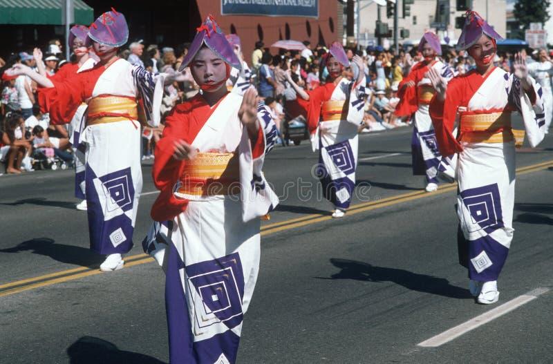 Die 49. Nisei Wochen-Parade in wenigem Tokyo stockbild