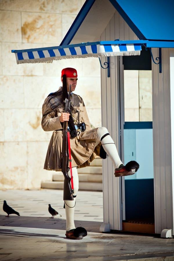 Die Abdeckung nahe parlament in Athen, Griechenland stockbilder