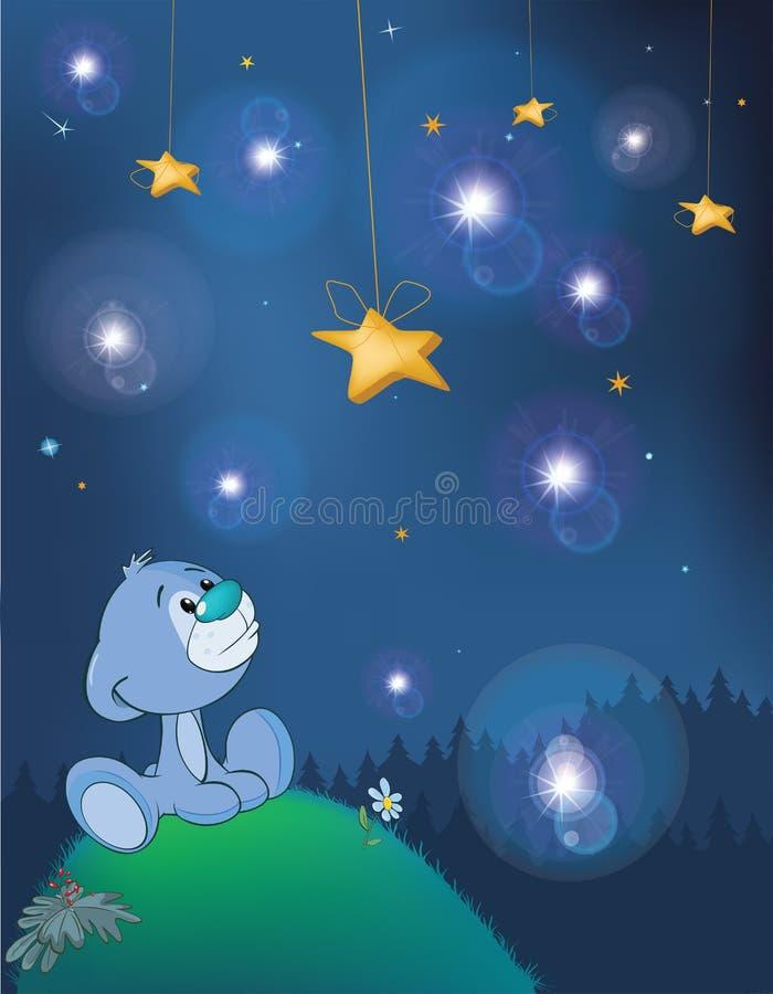 Die Abenteuer wenigen Bären Fantastische Nacht lizenzfreie abbildung