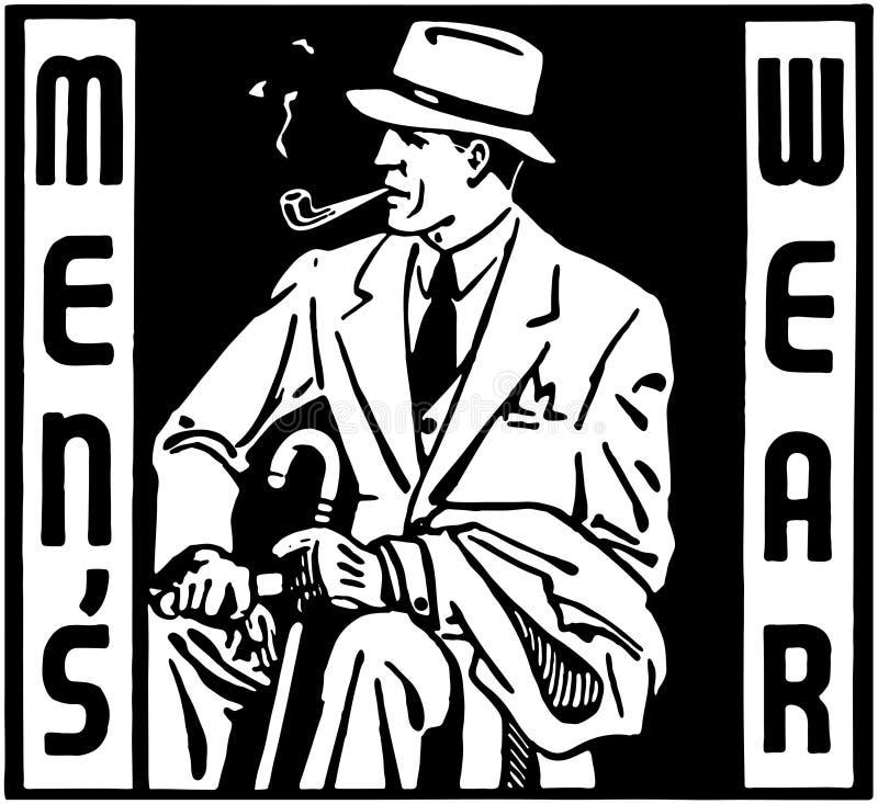 Die Abnutzung der Männer lizenzfreie abbildung