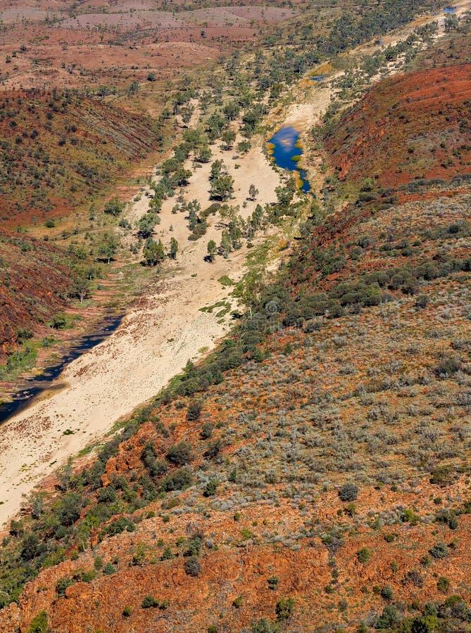 Die abschließende Wasserstelle bei Glen Helen stockbild