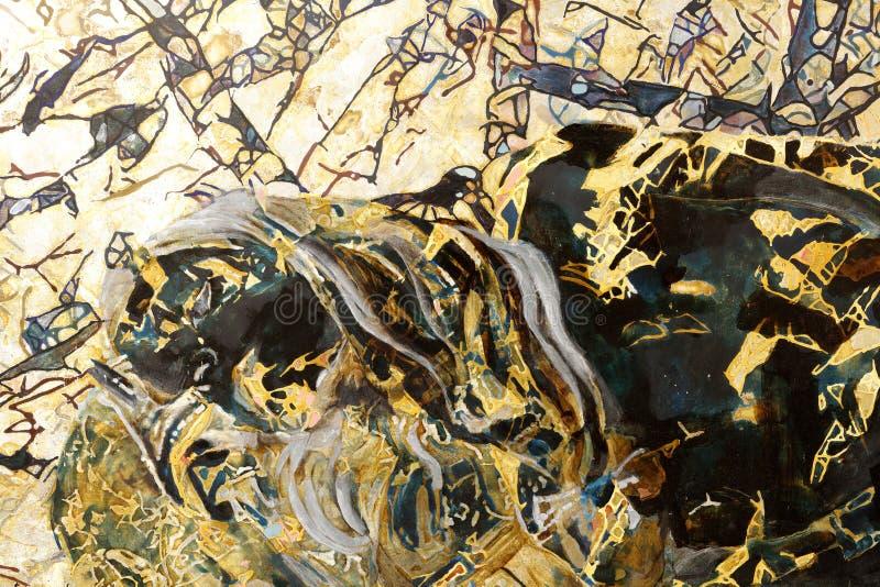 Die abstrakte Malerei der Lackmalerei, luftgetrockneter Ziegelstein rgb stockbild