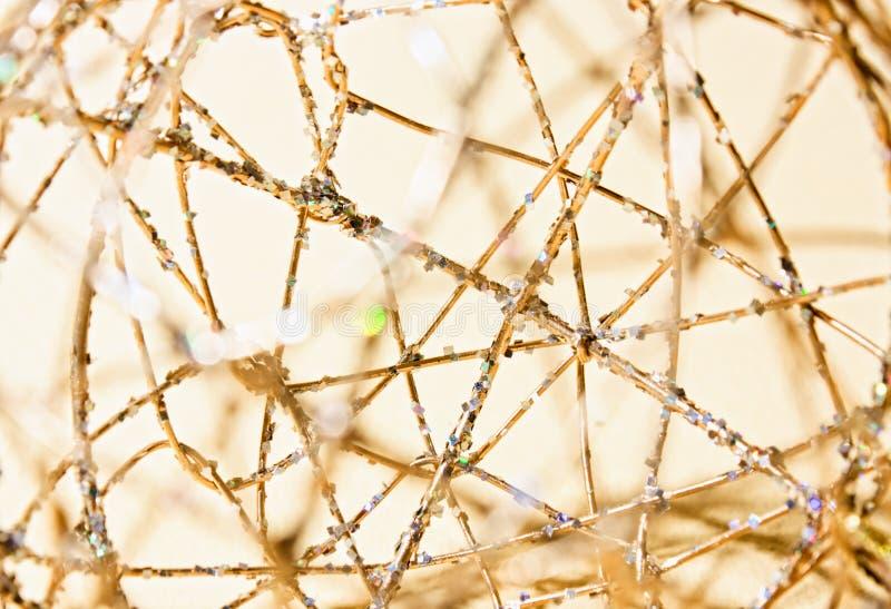 Die abstrakte Nachricht vom Golddraht lizenzfreie stockfotos
