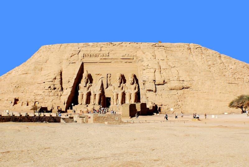 Die Abu Simbel-Tempel lizenzfreie stockbilder