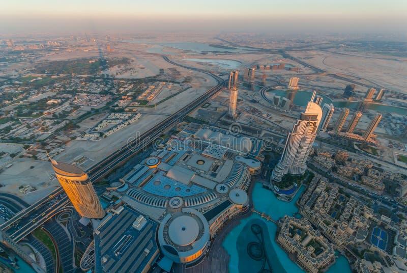 Die Adresse im Stadtzentrum gelegenes Dubai stockbilder