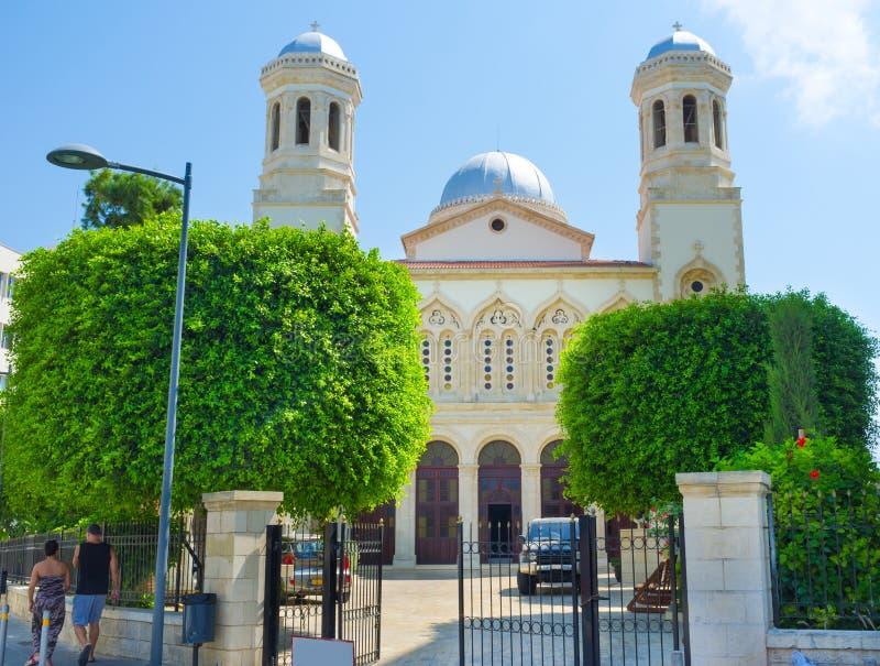 Die Agia Napa Kirche stockfotos