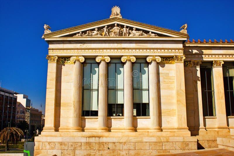 Die Akademie von Athen in Athen, Griechenland stockfotos