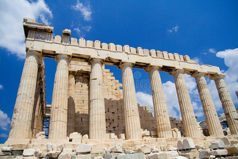 Die Akropolis, Seitenansicht stockfoto