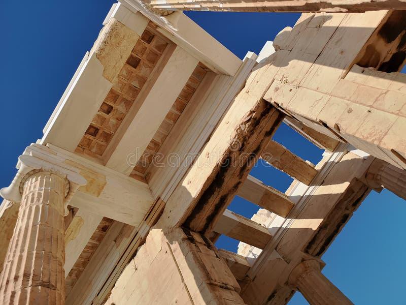 Die Akropolis von Athen, Griechenland lizenzfreies stockbild