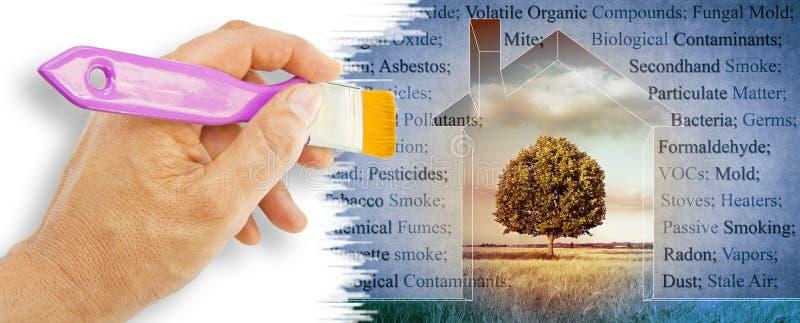 Die allgemeinsten gefährlichen inländischen Schadstoffe, die wir in unseren Häusern finden können - Konzeptbild lizenzfreies stockfoto