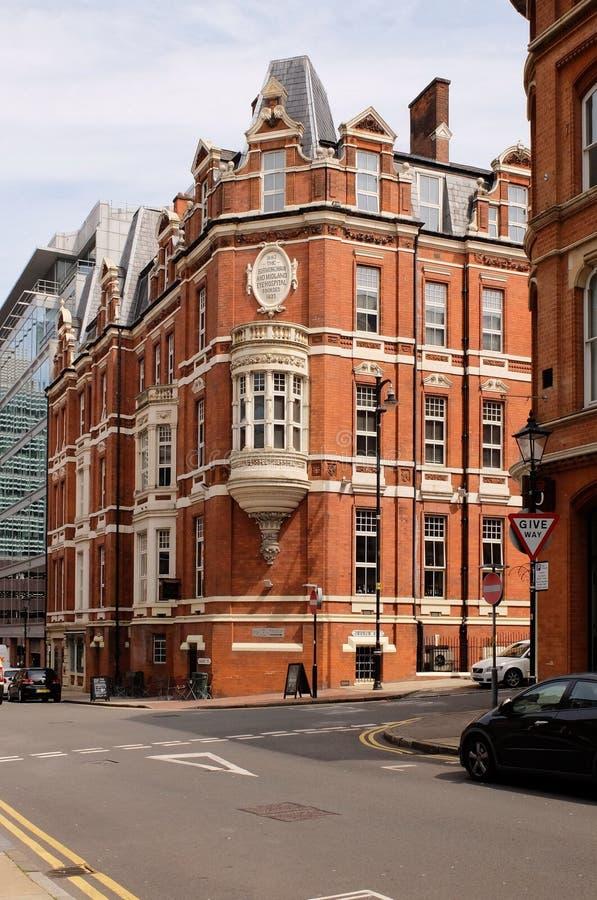 Die alte Birmingham- und Binnenland-Augenklinik, Birmingham, Großbritannien stockfotografie