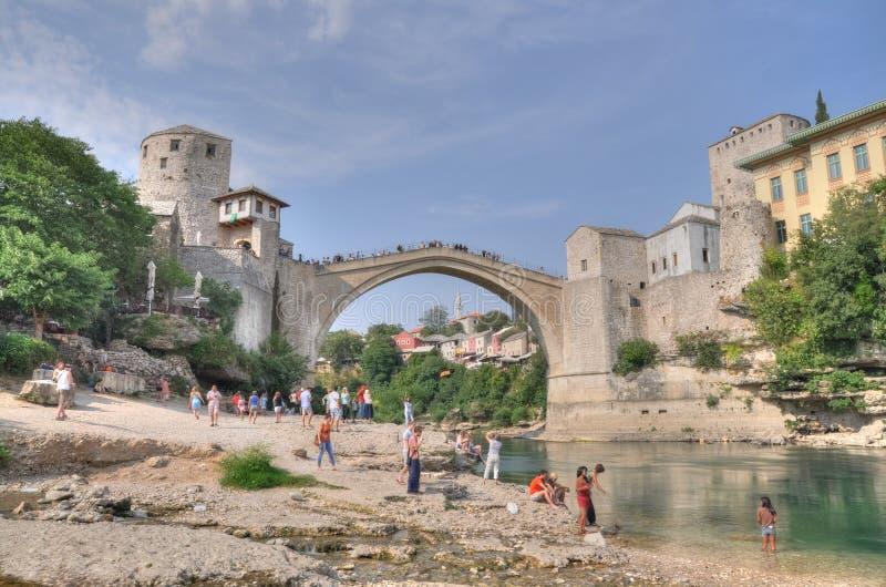 Die alte Brücke, Mostar, Bosnien Herzegovina stockfotografie