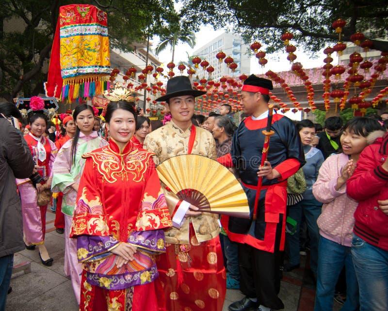 Die alte chinesische traditionelle Hochzeit stockfotografie