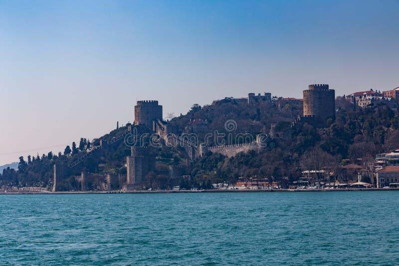 Die alte Festung Rumelihisari ist eine Festung, die auf einem Hügel an der europäischen Seite des Bosphorus, die Türkei gelegen i lizenzfreie stockbilder