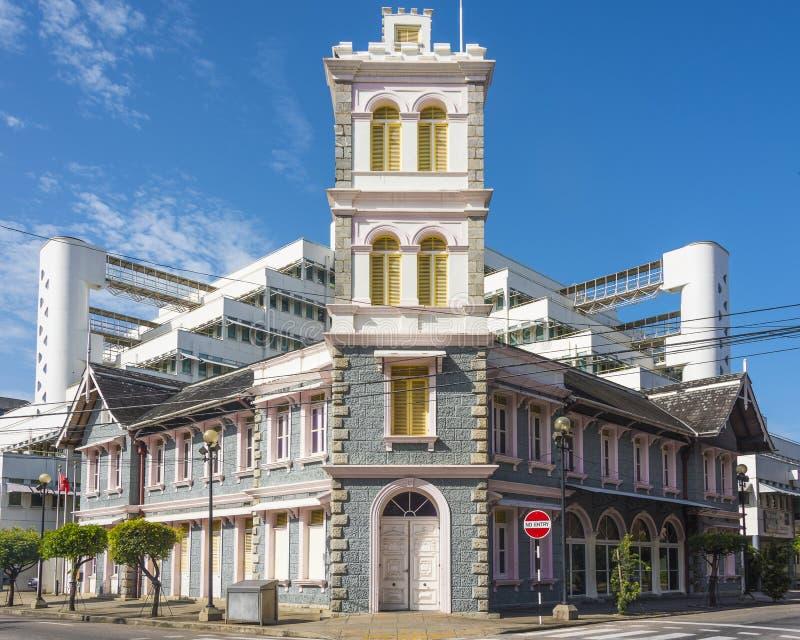 Die alte Feuerwache Port-of-Spain, Trinidad stockbild