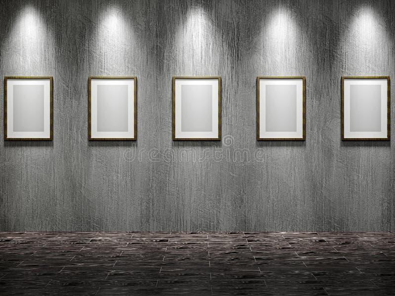 Die alte Galerie lizenzfreie abbildung