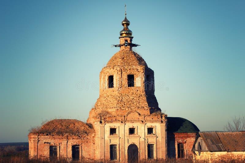 Die alte Kirche stockbild