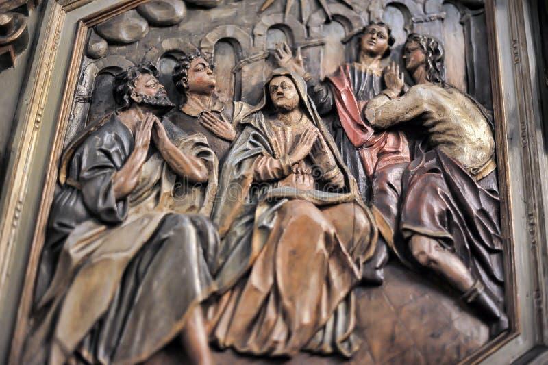 Die alte Kirche des Heiliger Geist Innenraums lizenzfreies stockbild