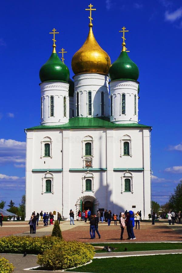 Die alte Kirche in Kolomna, Russland stockbilder