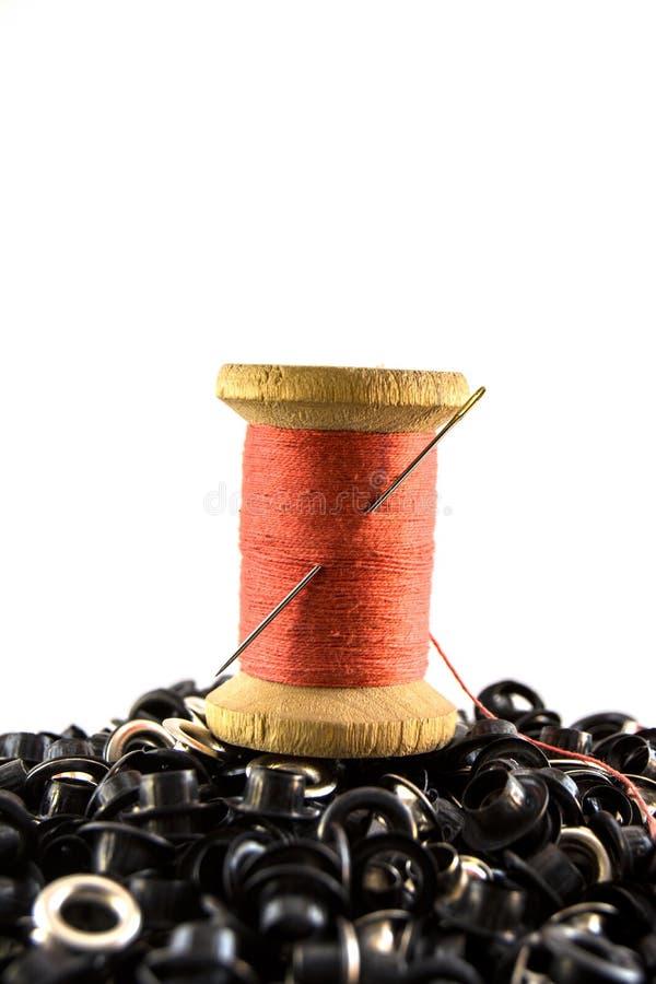 Die alte Spule des Threads lizenzfreies stockbild