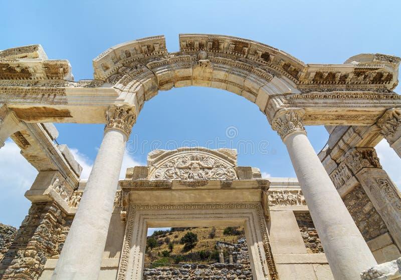Die alte Stadt von Ephesus Efes auf Türkisch gelegen nahe Selcuk-Stadt von Izmir die Türkei stockbilder