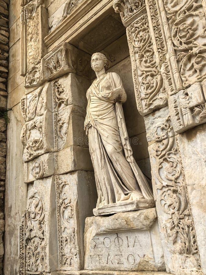 Die alte Stadt von Ephesus, Izmir, die T?rkei lizenzfreies stockbild